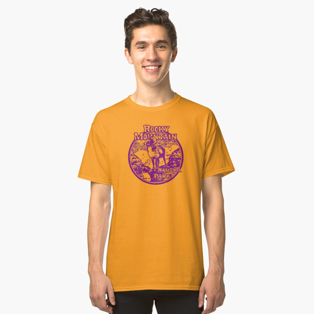 Rocky Mountain Bighorn Sheep National Park Colorado Classic T-Shirt Front