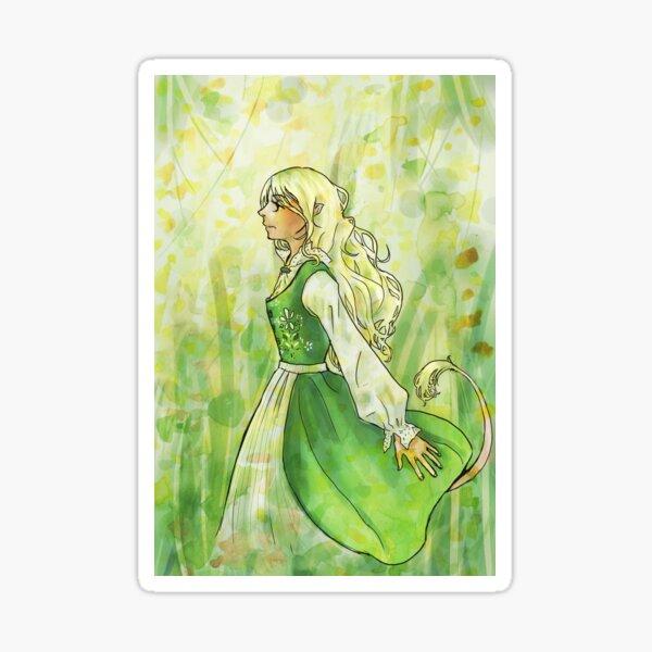 Green Lady Sticker