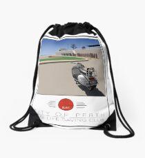 Scooter Poster Perth SLSC Drawstring Bag
