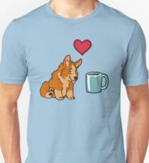 Love Corgis and Coffee Unisex T-Shirt