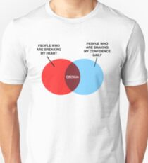 Cecilia Venn Diagram Unisex T-Shirt