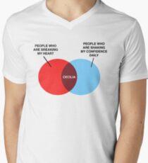 Cecilia Venn Diagram Men's V-Neck T-Shirt