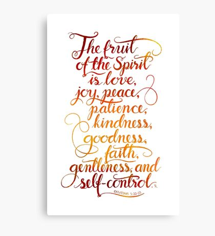 The Fruit of the Spirit is Love Canvas Print