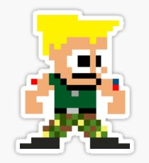 Pixel Guile Sticker