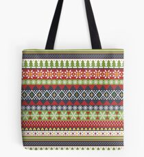 Fair Isle Holiday (Dark) Tote Bag