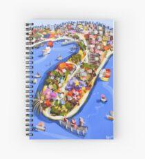 Blue water jetty Spiral Notebook