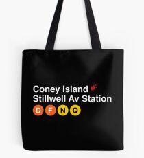 Coney Island Stillwell Av Station Tote Bag