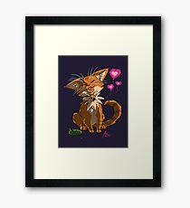 Furry Love Framed Print