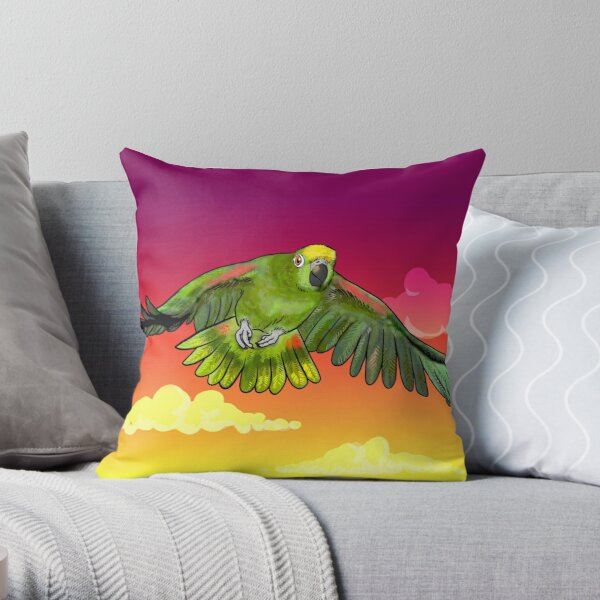 Yellow-crowned amazon Throw Pillow