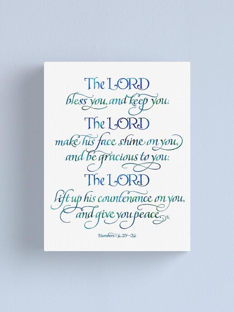 Vista alternativa de Lienzo El Señor te bendiga y te guarde