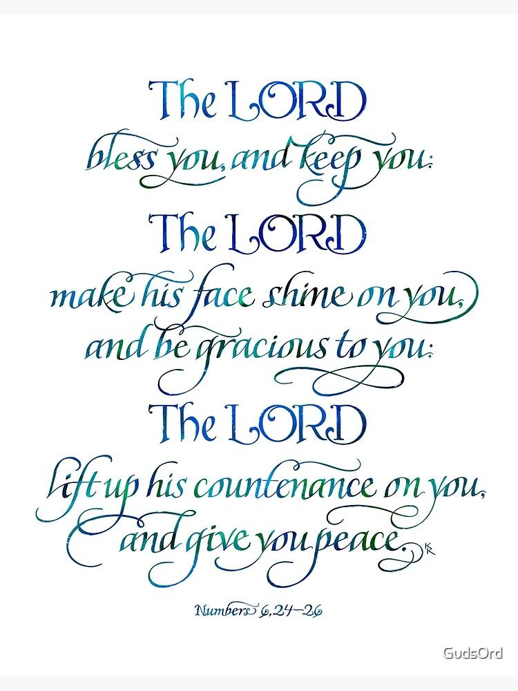 El Señor te bendiga y te guarde de GudsOrd