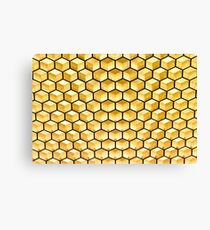 Honeycomb illusion Canvas Print