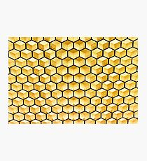Honeycomb illusion Photographic Print