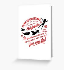 Think of Christmas Peter Pan inspired Greeting Card
