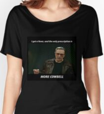 More Cowbell SNL Christopher Walken Shirt Women's Relaxed Fit T-Shirt