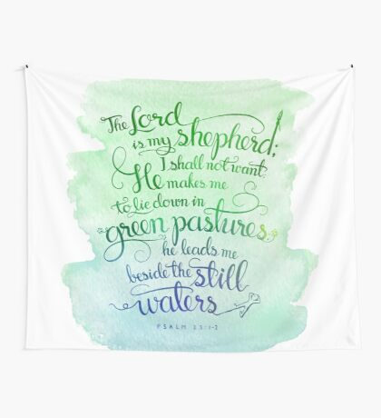 The Lord As My Shepherd Wall Tapestry