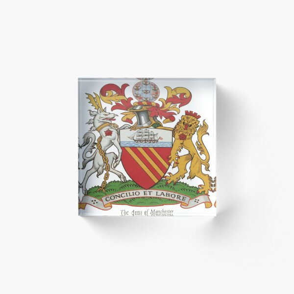 Coat of Arms Manchester Acrylic Block