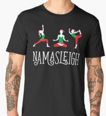 Namasleigh Yoga Christmas Men's Premium T-Shirt