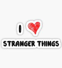 I Love Stranger Things Sticker