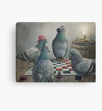 The Antlered Ship_Pigeons Playing Checkers Canvas Print