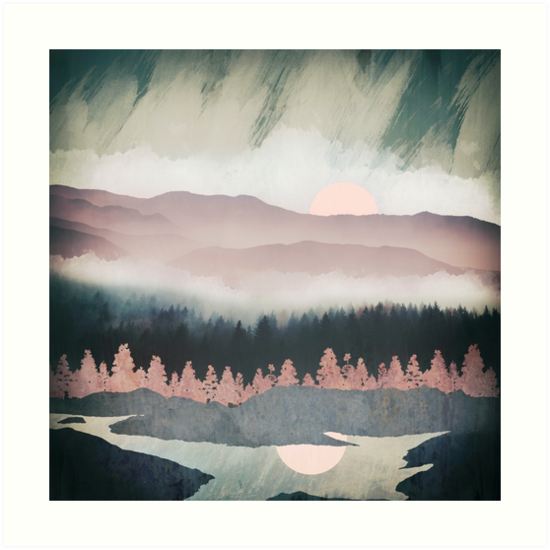Forest Lake Evening by spacefrogdesign