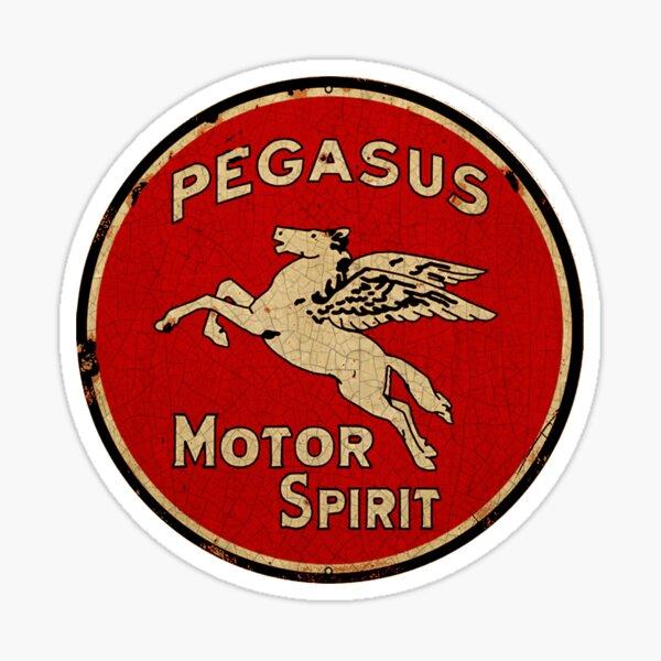 Pegasus Motor Spirit Gasoline. Sticker
