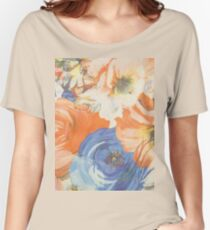 Floral Design Women's Relaxed Fit T-Shirt