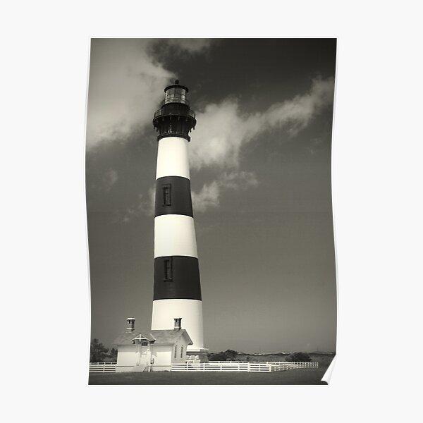 Bodie Island Lighthouse (Mono) Poster