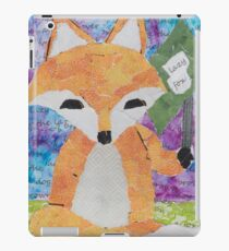 the quick red fox jumps over the lazy brown dog iPad Case/Skin