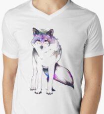 Galaxy Wolf Men's V-Neck T-Shirt