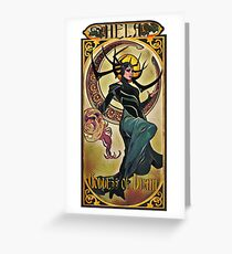 Hela Goddess of Death Greeting Card