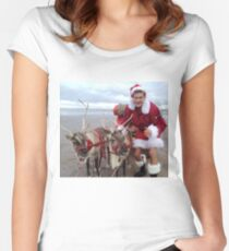 Christmas Hasselhoff Women's Fitted Scoop T-Shirt