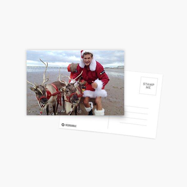 Christmas Hasselhoff Postcard