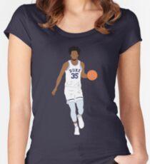 Marvin Bagley III, Duke Women's Fitted Scoop T-Shirt