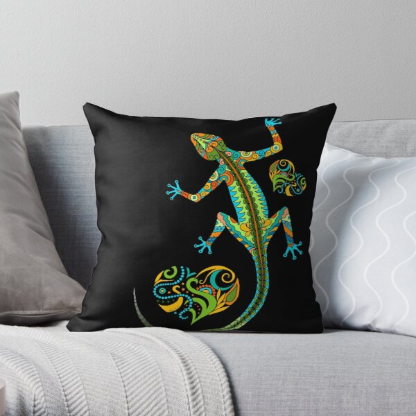 Lizard love - single Throw Pillow