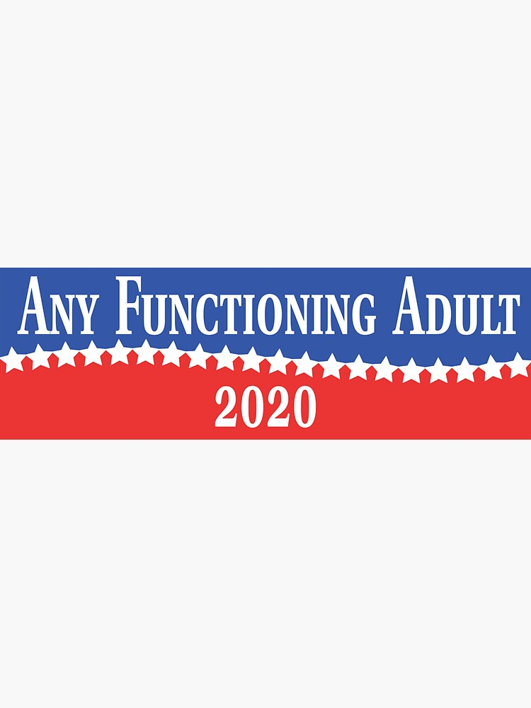Any Functioning Adult 2020 by Kingwell
