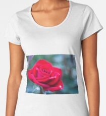 Vivid Red Rose Women's Premium T-Shirt