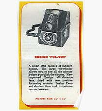 "Old School Analogue Kodak Ensign ""Ful-Vue"" Poster"