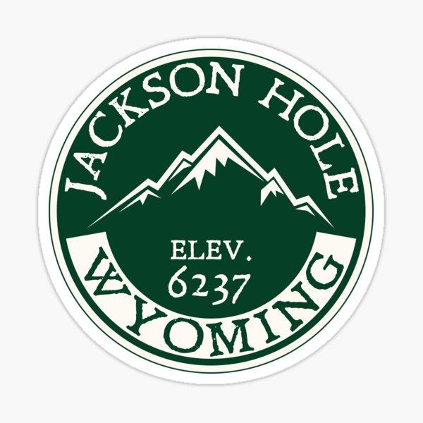 JACKSON HOLE WYOMING Mountain Skiing Ski Snowboard Snowboarding Green Sticker