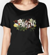 SSDGM Murderino Flower Illustration My Favorite Murder Women's Relaxed Fit T-Shirt