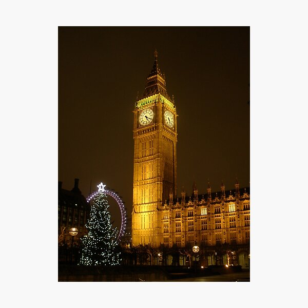 Big Ben ticks Goodnight Photographic Print