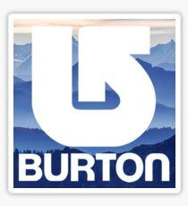 Burton Snowboard Mountain Sticker
