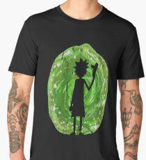 Rick and Morty - Portal Silhouette (alt) Men's Premium T-Shirt