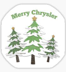 Merry Chrysler Sticker