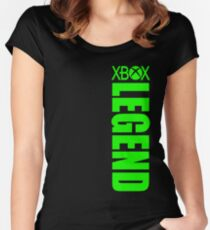 Xbox Legend - Green Women's Fitted Scoop T-Shirt