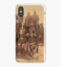 Buffalo soldiers of the 25th Infantry, some wearing buffalo robes, Ft. Keogh, Montana 1889 iPhone Case