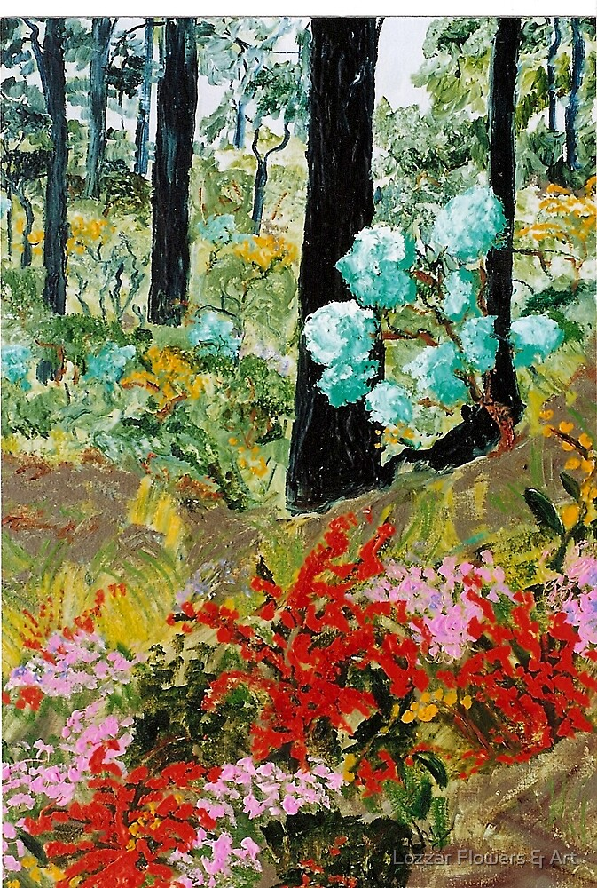 'Ironbark and Wildflowers' by Lozzar Flowers & Art