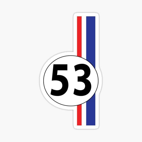 Herbie, number 53 Sticker