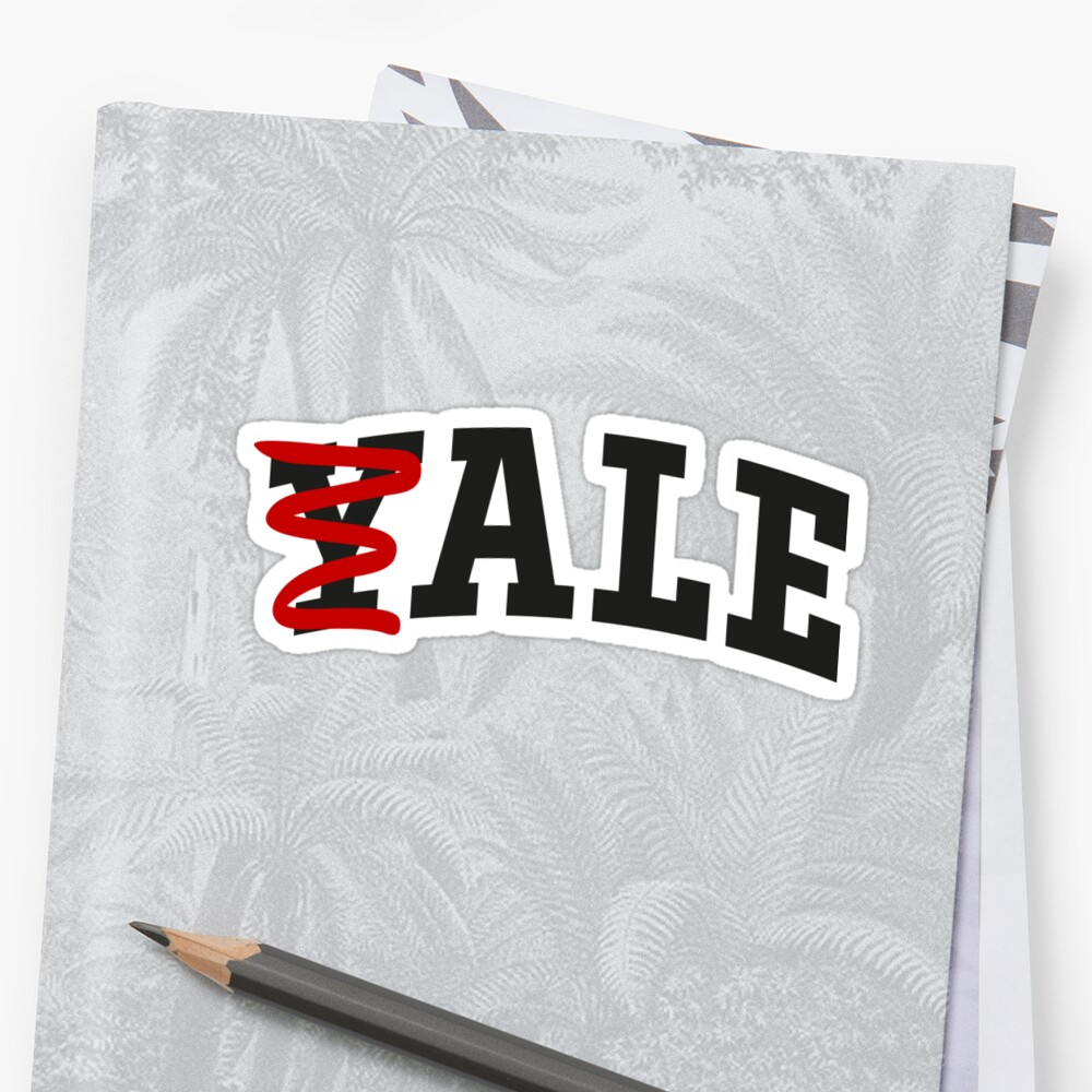 Quot Ale Yale Parody Beer Quot Stickers By Mongolife Redbubble