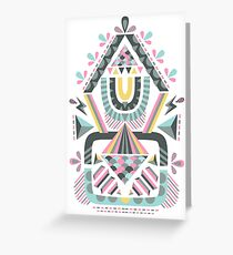 ethnic abstraction Greeting Card